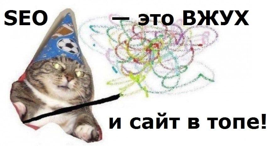 Мем ВЖУХ про SEO